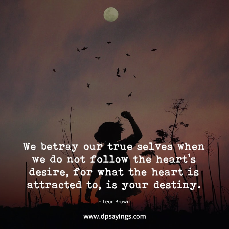 """Destiny quotes """"What the heart is attracted to, is your destiny."""""""
