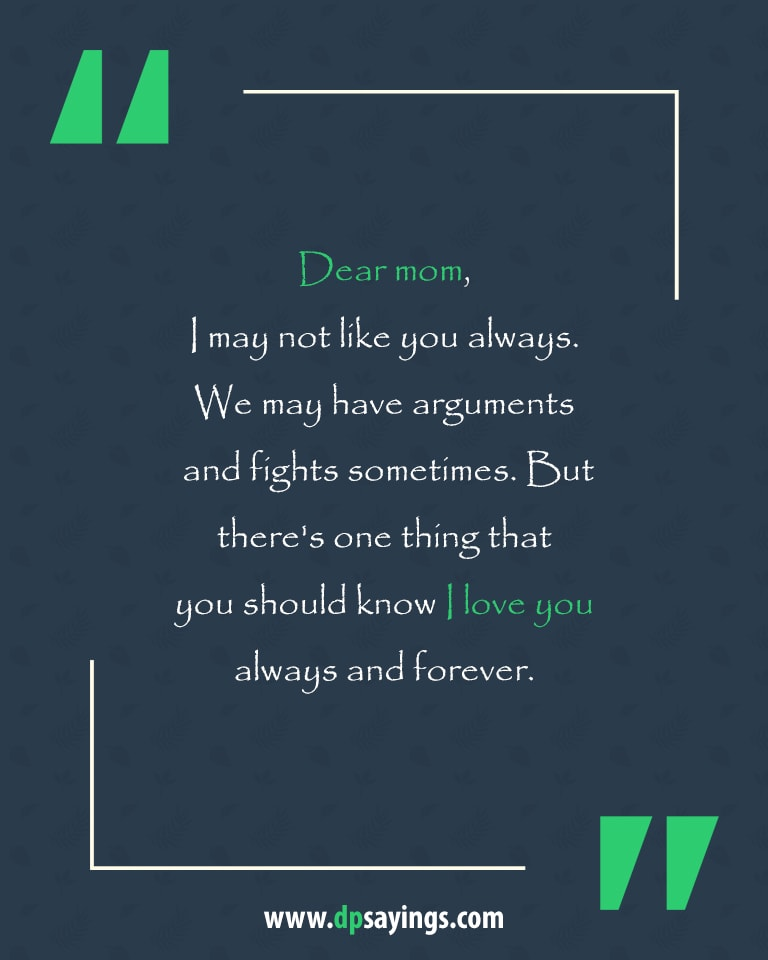 i love you mom quotes and sayings