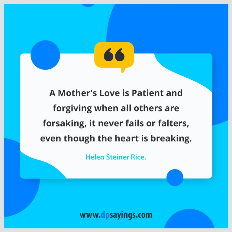 Writers quotes and sayings about mother's love