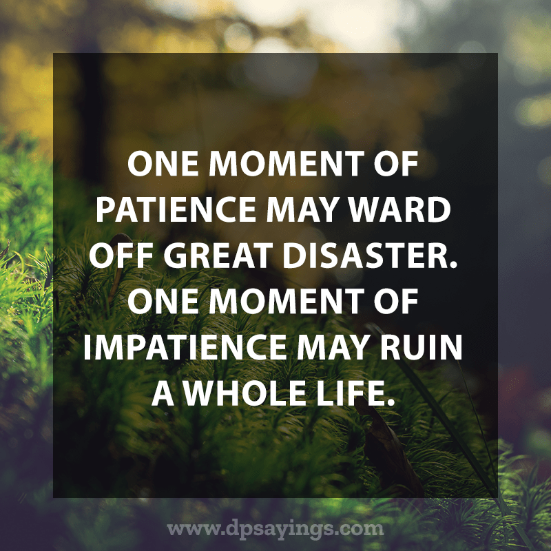 Best Patience Quotes And Sayings 36