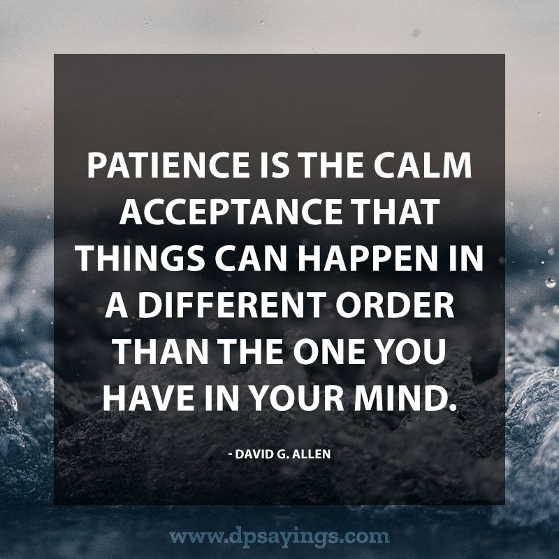 Best Patience Quotes And Sayings 60