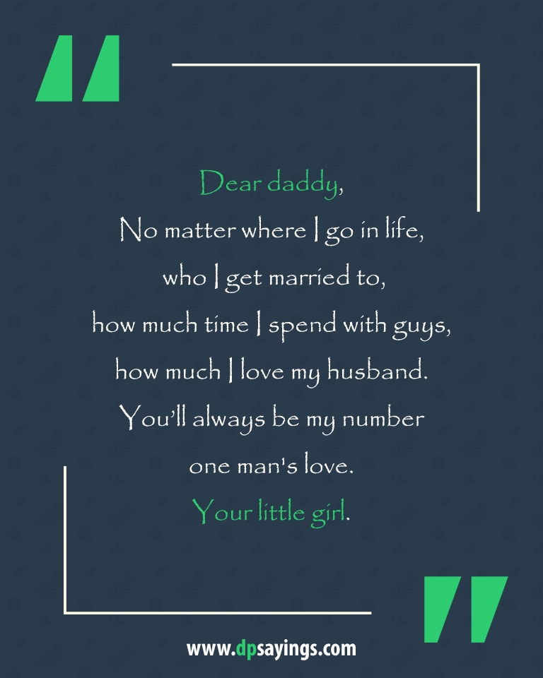 Dad and daughter quotes and sayings 12