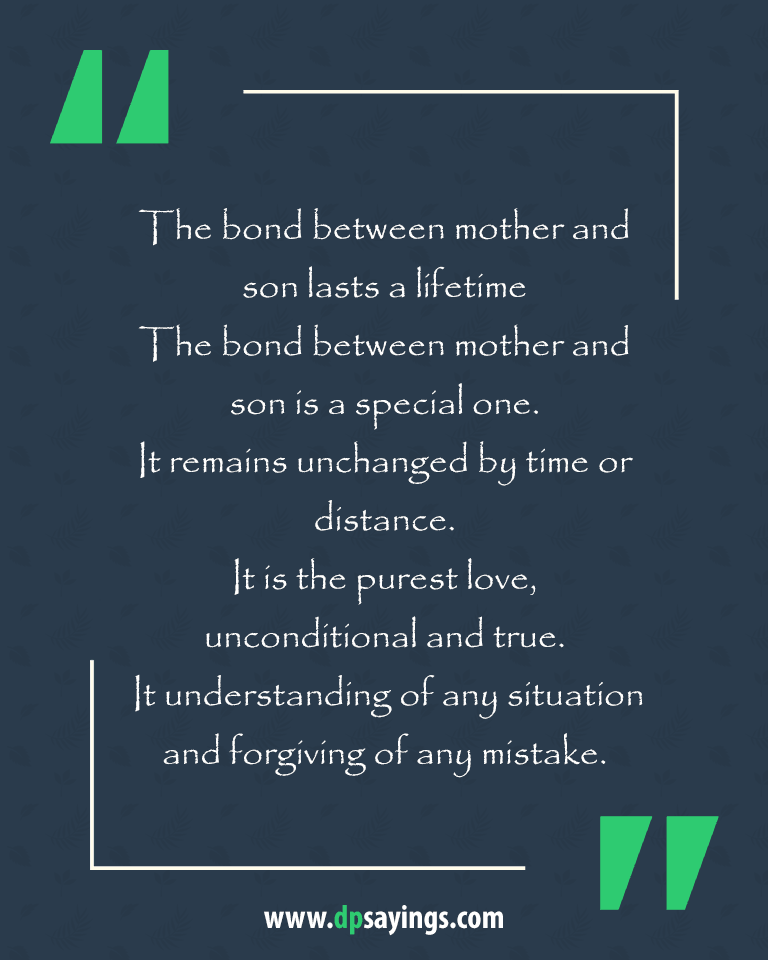 Mom and son quotes and sayings 6
