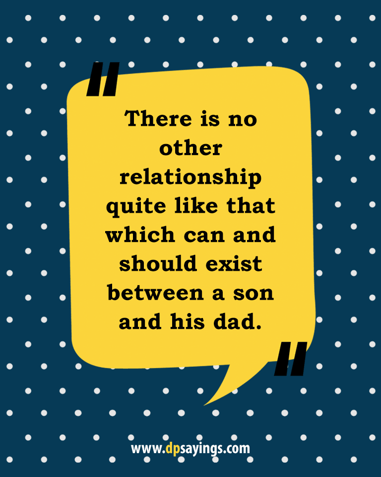 Quotes and sayings about dad and son 18