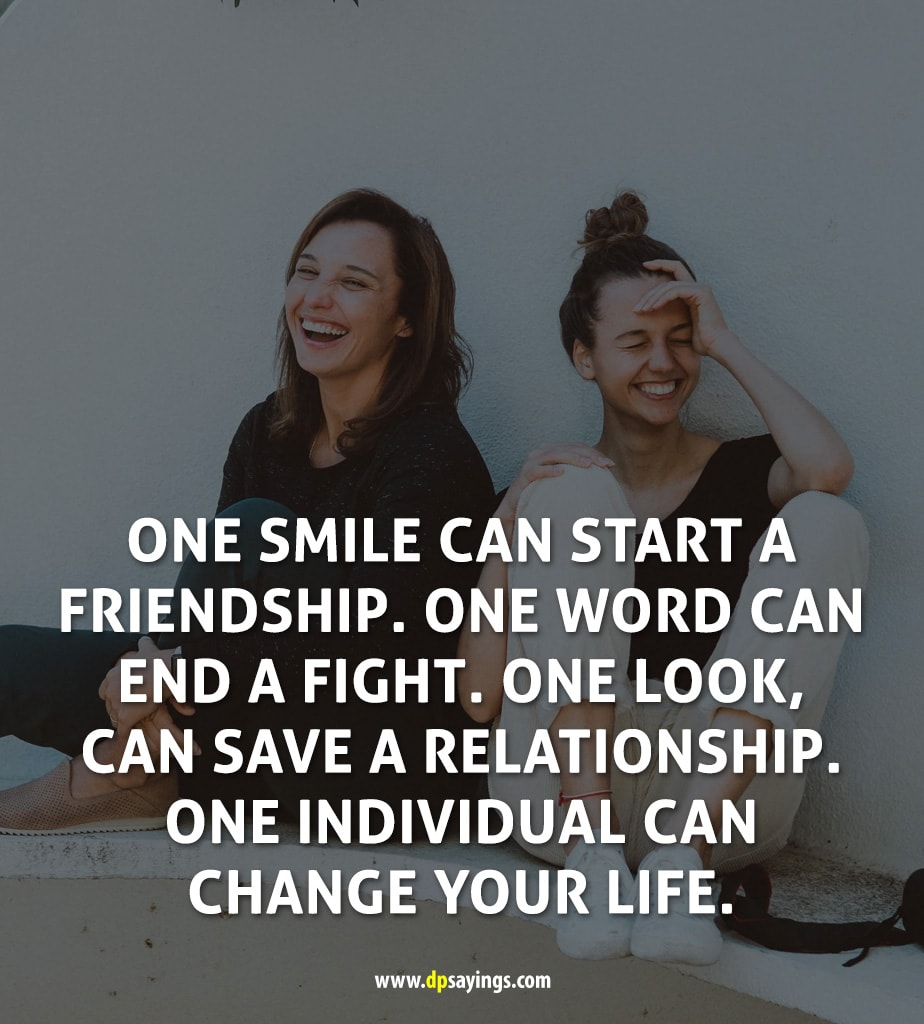 smile quotes and sayings friends