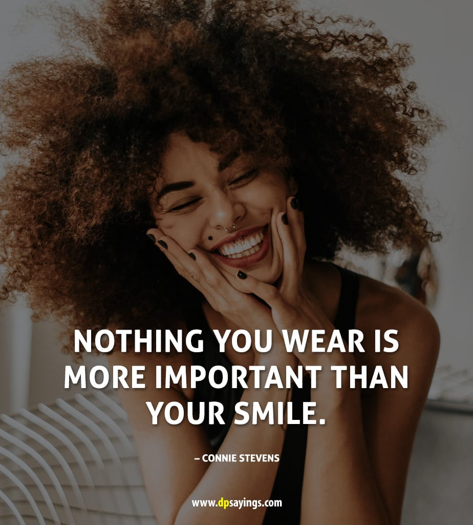 beauty with smile quotes