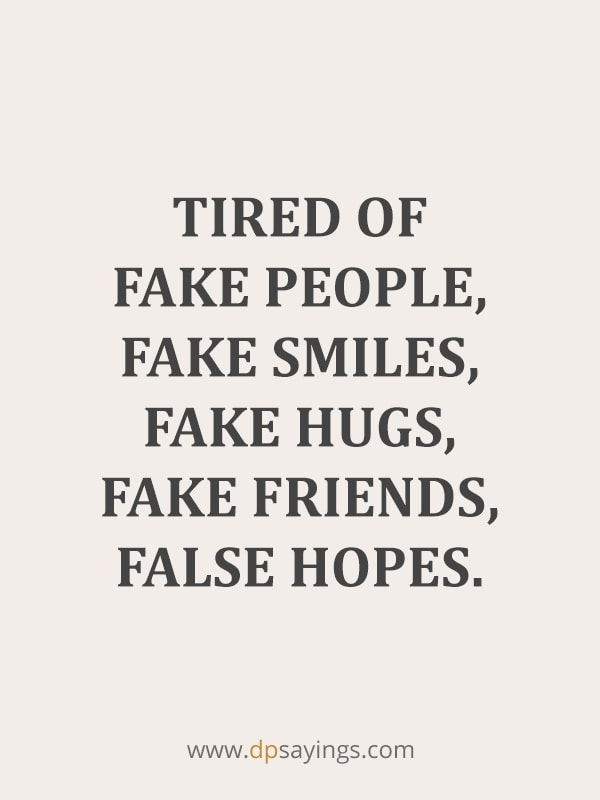 Fake Friends And Fake People Quotes 24