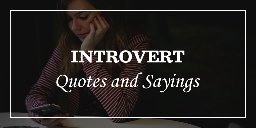 introvert quotes and sayings