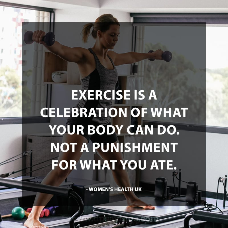 "Inspirational Workout Quotes """"Exercise is a celebration of what your body can do."""
