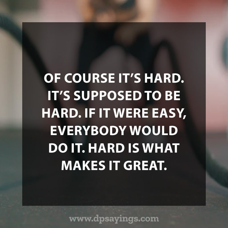 "Workout Quotes ""Hard is what makes it great."""