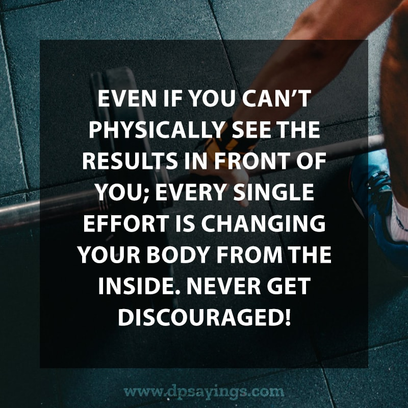 Highly inspiring quote on workout.