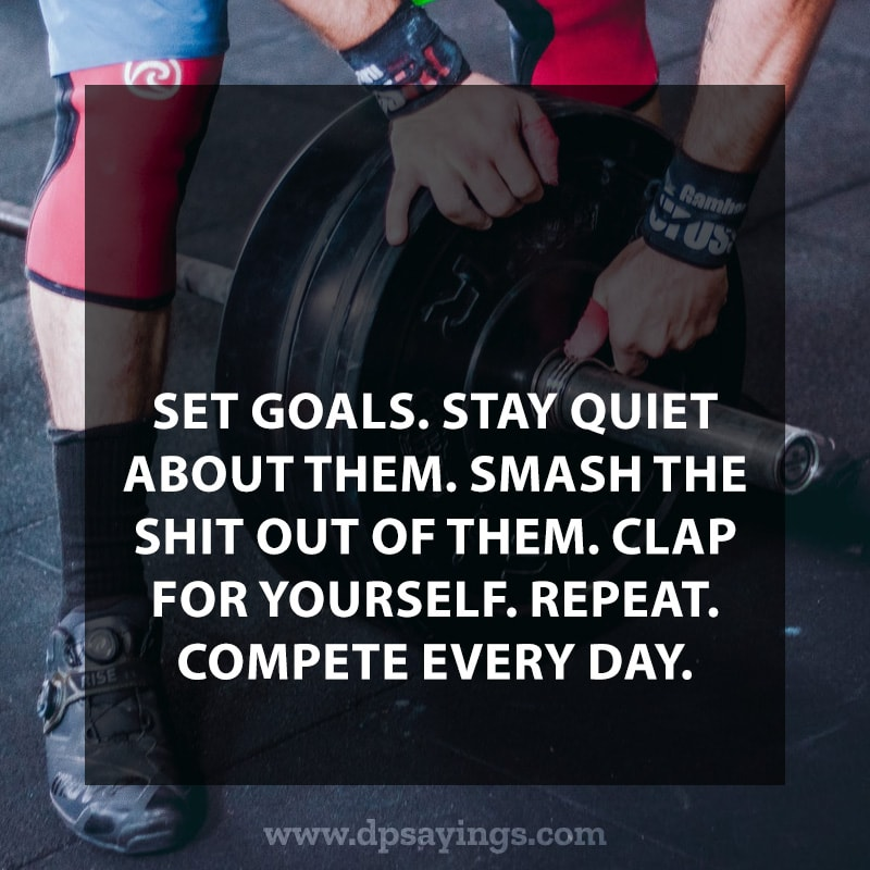 Stay goals and starting doing workout.