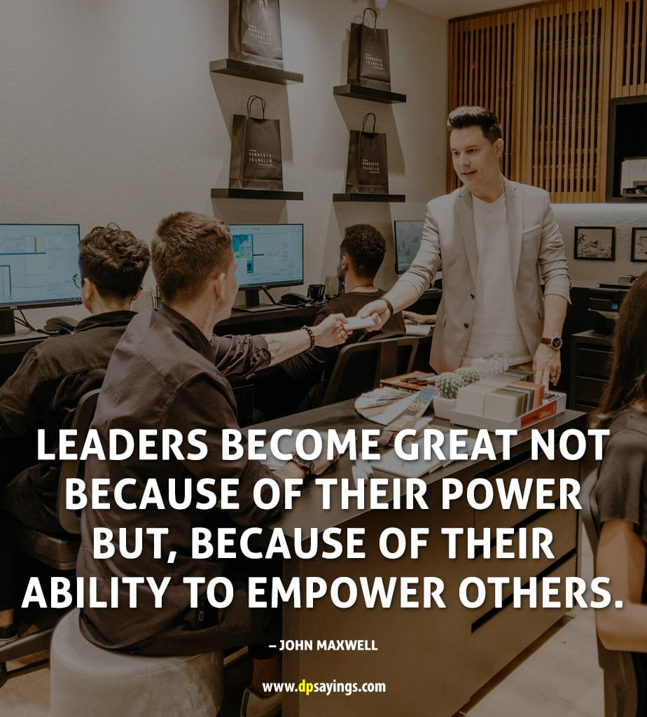 Inspirational Leadership Quotes And Sayings To Become Leader