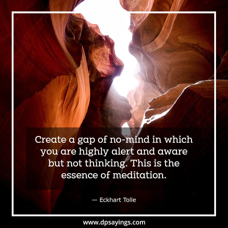 A quote on meditation which tells Meditation is a lifelong process. Give it a try.