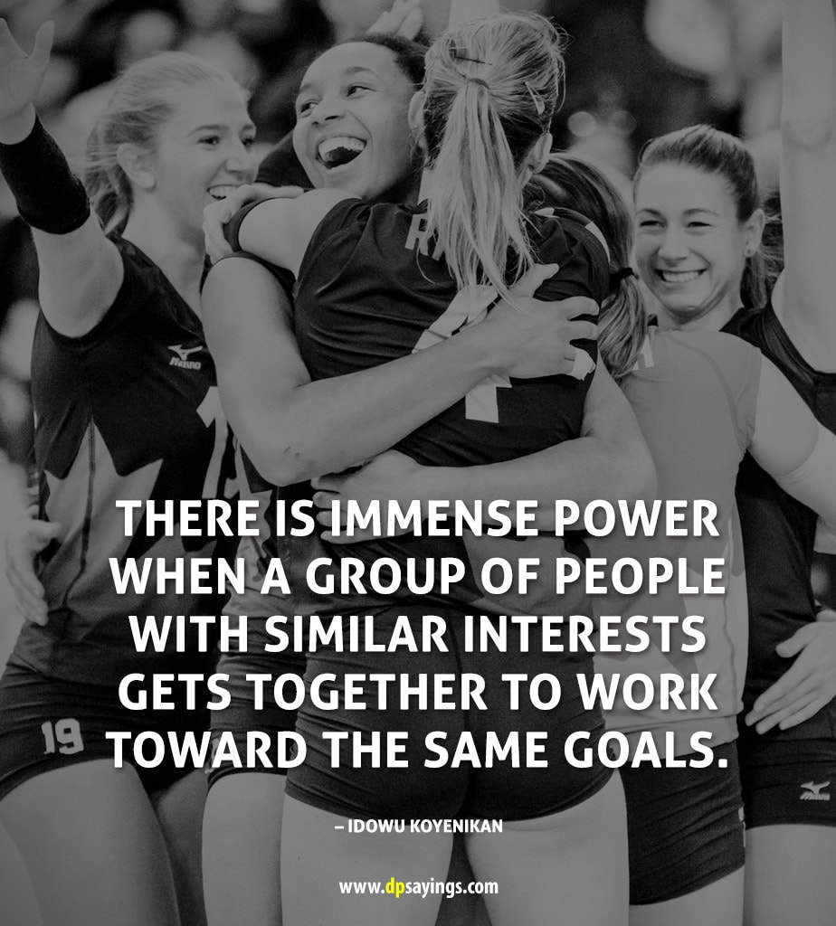 A quote on teamwork to inspire readers