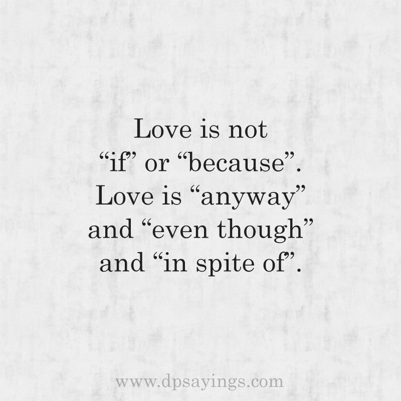 True unconditional love quotes for him and her