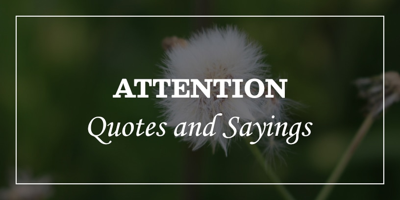 attention quotes list