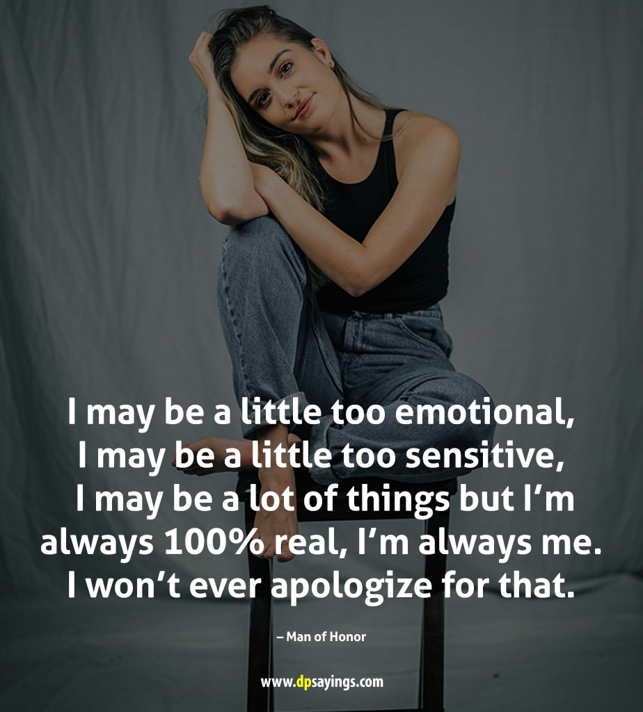 I may be a little too sensitive.