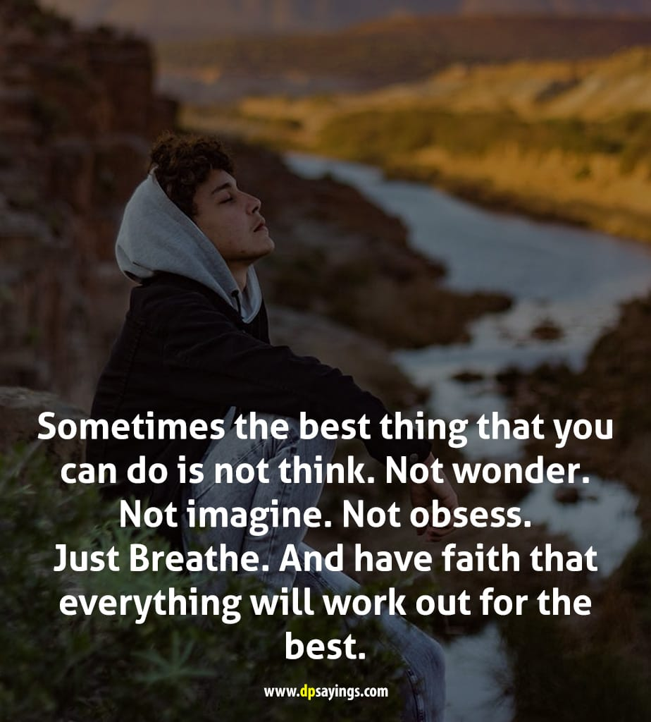 Just breathe everything will be okay quotes