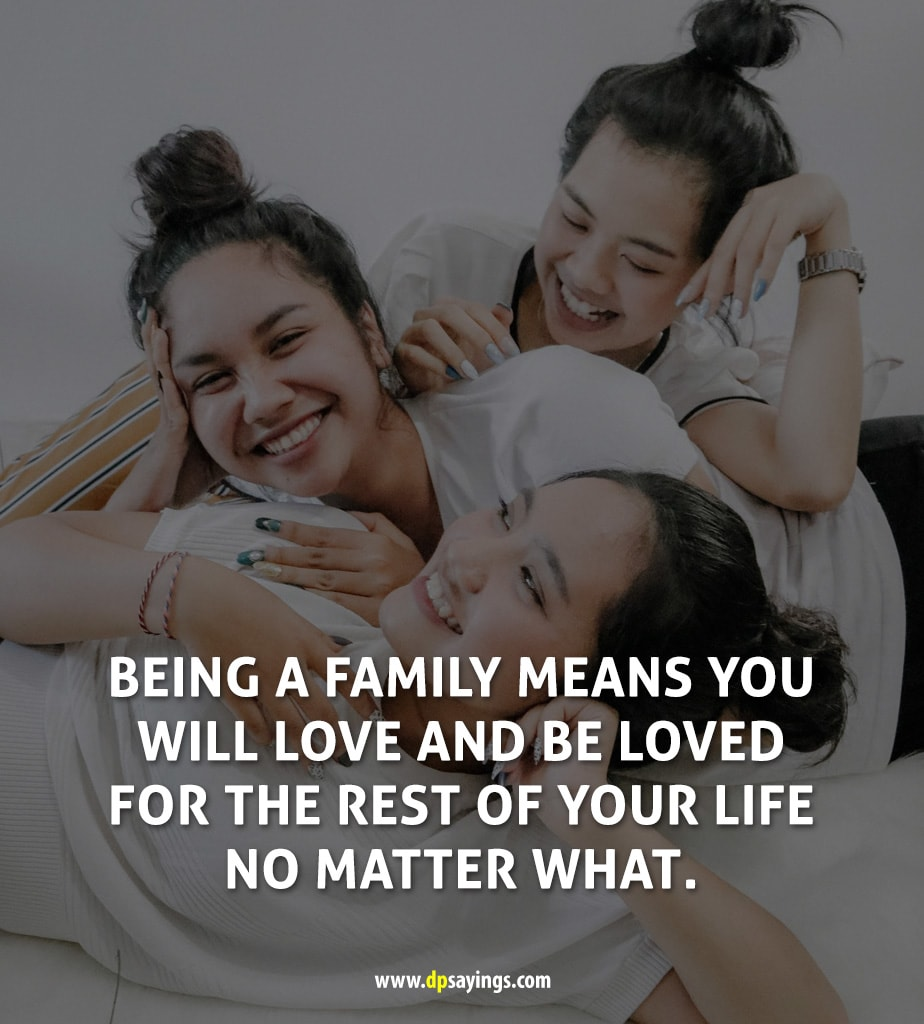 Being a family quotes