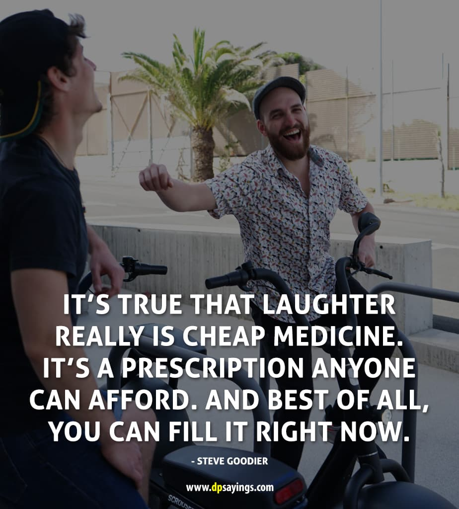"Health Quote ""laughter is cheap medicine any body can afford."""