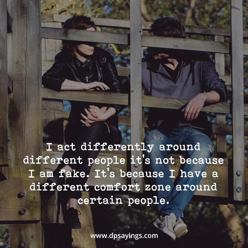 """introvert quotes """"I have a different comfort zone around certain people."""""""