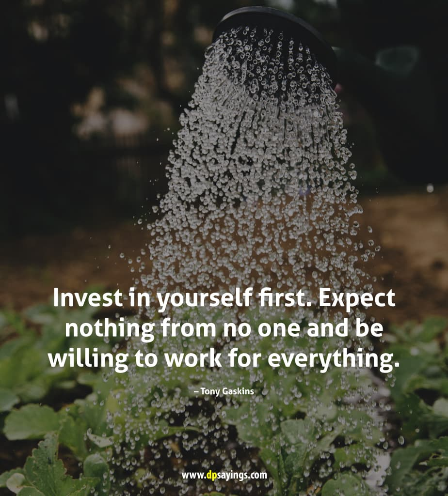 Invest in yourself first.