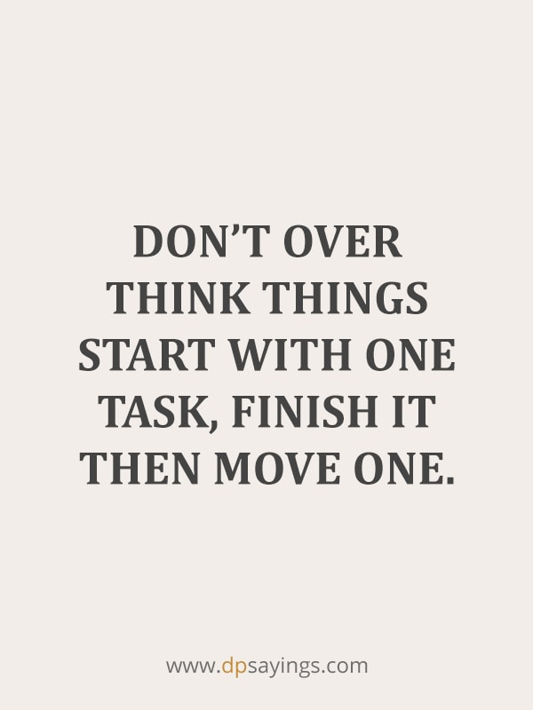Don't over think things, keep it simple.