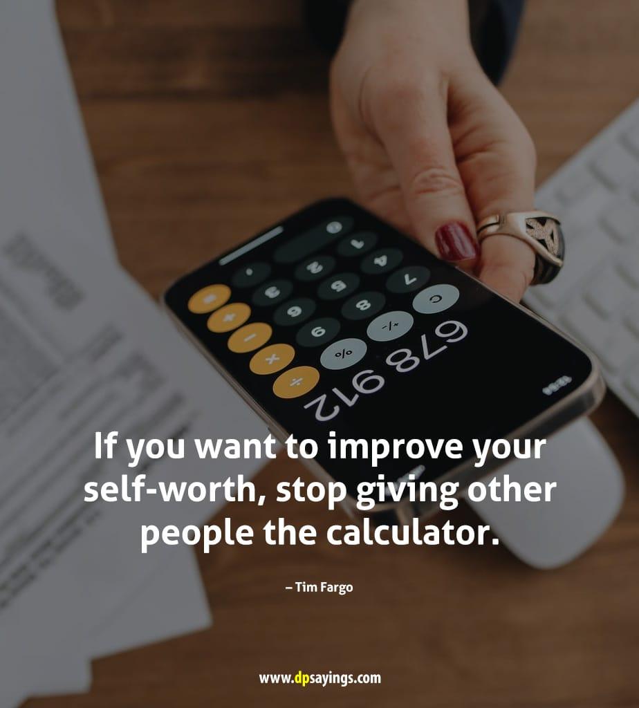 improve your self worth