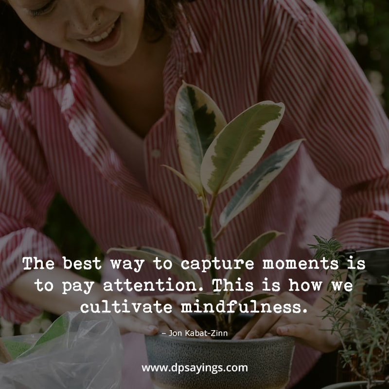 """Mindfulness quotes """"The best way to capture moments is to pay attention..."""""""