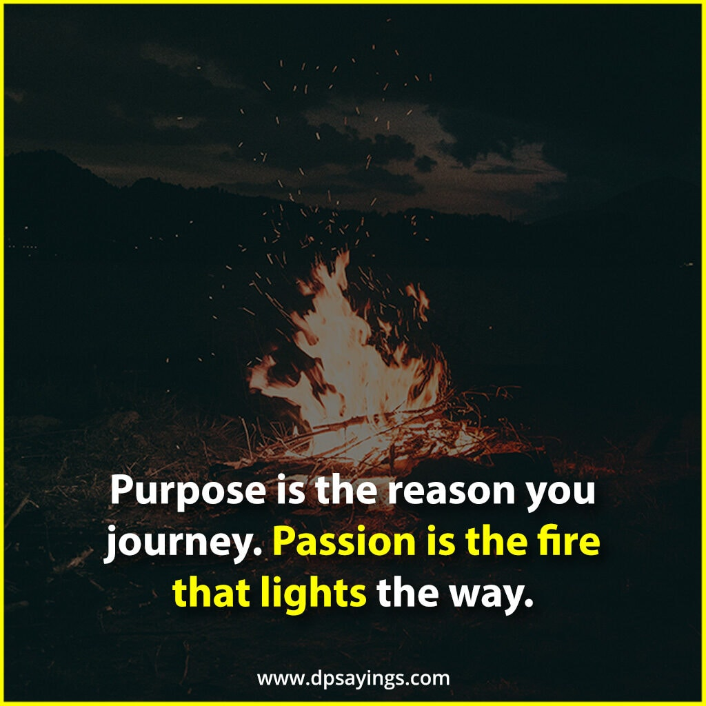 passion is the fire that lights