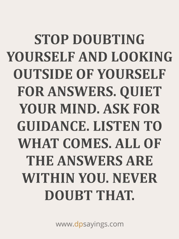 overcoming self doubt quotes