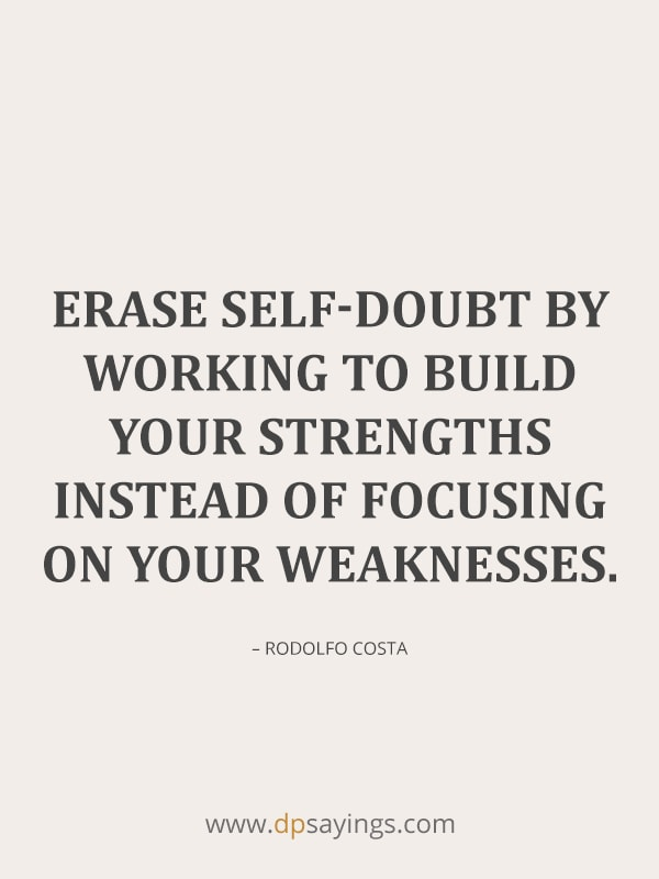 quotes on self doubt.
