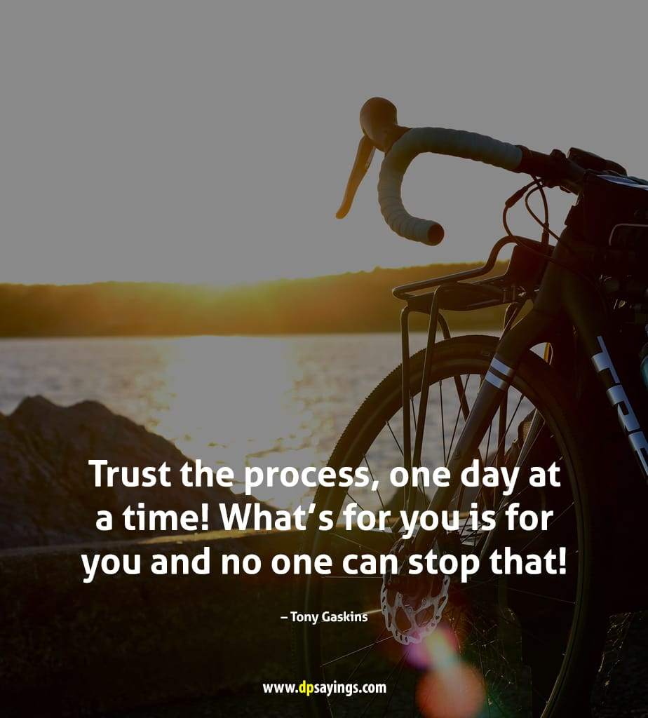 trust the process no can stop you